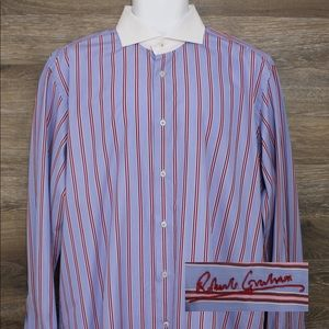Robert Graham Multicolor Striped Dress Shirt 43/17